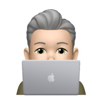 Memoji profile with macbook pro